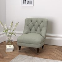 Richmond Wool Tub Chair , Light Grey Wool, One Size