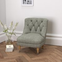 Richmond Tub Chair Tweed Dark Stained Beech Leg, Tweed Mid Grey, One Size