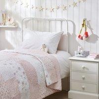 Rosie Patchwork Quilt, Pink, Cot Bed