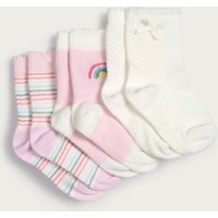 Rainbow Baby Socks – Set of 3, Multi, 0-6mths