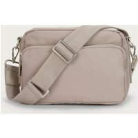 Recycled Nylon Cross-Body Bag , Taupe, One Size
