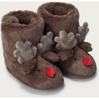 Reindeer Booties , Natural, 18-24mths