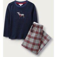 Reindeer Checked Pyjamas (1-12yrs), Multi, 1 1/2-2yrs