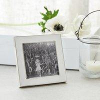"""Resin Photo Frame 3x3"""", White, One Size"""
