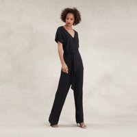 Ribbed Jersey Jumpsuit , Black, 12