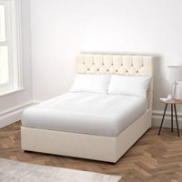 Richmond Cotton Bed - Headboard Height 130cm, Pearl Cotton, Double