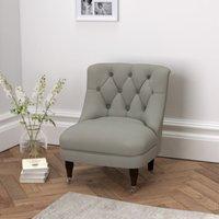 Richmond Cotton Tub Chair , Grey Cotton, One Size