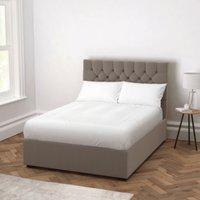 Richmond Velvet Bed - Headboard Height 130cm, Silver Grey Velvet, King
