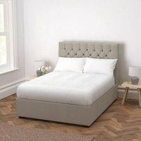Richmond Wool Bed - Headboard Height 154cm, Light Grey Wool, Super King