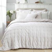 Romney Quilt , White Grey, Double
