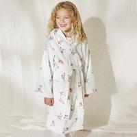 Rose Floral Robe (1-12yrs), White, 7-8yrs
