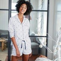 Cotton Flannel Star Print Pyjama Top