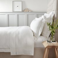 Santorini Linen Duvet Cover, White, King