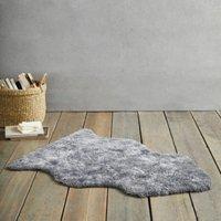 Curly Sheepskin Single Rug , Grey, One Size