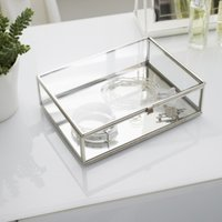Glass Large Jewellery Box, Clear, One Size