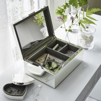 Silver Plated Large Jewellery Box, Silver, One Size