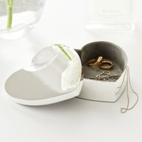 Silver Plated Heart Box, Silver, One Size