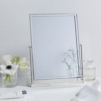 Silver Plated Dressing Table Mirror, Silver, One Size