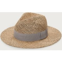 Seagrass Open Weave Fedora Hat