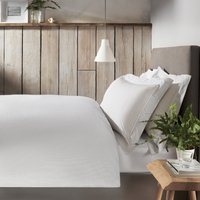 Somerton Stripe Duvet & Pillowcase Set, White/Soft Grey, Single