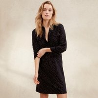 Cotton Spot Print Shirt Dress