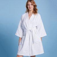 Cotton Stripe Kimono  Robe