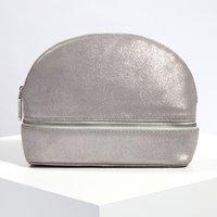Suede Sparkle Make-Up Bag