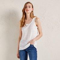 Linen-Rich Sparkle Stripe Top