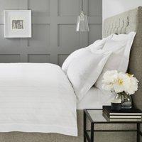 Stanford Stripe Duvet Cover, White, Single