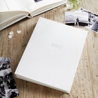 Large Photo Album, White, One Size