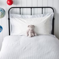 Stripe Flannel Housewife Pillowcase, Blue, Cot Bed