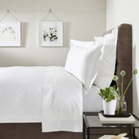 Symons Cord Duvet Cover, White, Double