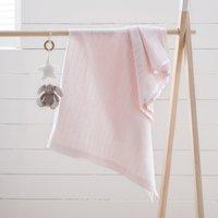 Satin-Edged Cellular Blanket, Pink, One Size
