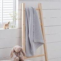 Satin-Edged Cellular Blanket, Grey, One Size