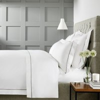 Savoy Duvet Cover, White Mink, King