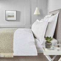 Savoy Duvet Cover, White, King