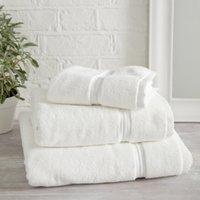 Savoy Towel, White, Hand Towel