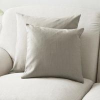 Scatter Cushion Cotton, Silver Cotton, Medium Square