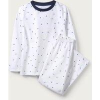 Scattered Star Pyjamas (1-12yrs), White Blue, 11-12yrs