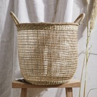 Seagrass Open Weave Basket, Natural, One Size