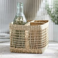 Seagrass Woven Bottle Holder , Natural, One Size