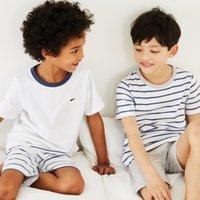 Shark Print Pyjamas - Set of 2 (1-12yrs), White Blue, 2-3yrs