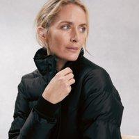 Short Puffa Coat, Black, 8
