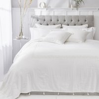 Sienna Quilt Cushion Covers, White, Single