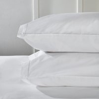 Single Row Cord Egyptian Cotton  Classic Pillowcase - Single , White, Standard