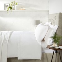 Single Row Cord Egyptian Cotton Duvet Cover, White, Super King