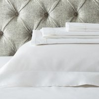 Single Row Cord Egyptian Cotton Flat Sheet , White, Super King