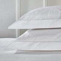 Single Row Cord Egyptian Cotton Oxford Pillowcase with Border - Single, White, Super King