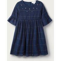 Sparkle Check Dress (1-6yrs), Navy, 2-3yrs