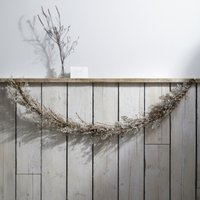 Sparkle Fern & Branch Garland, Natural, One Size